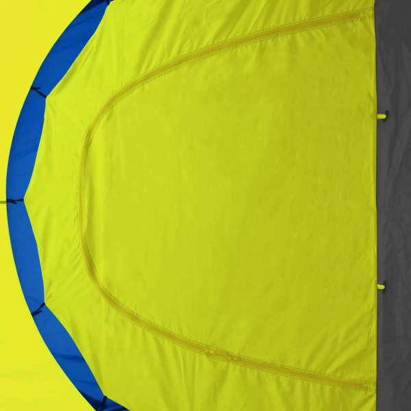 vidaXL Cort camping material textil, 9 persoane, albastru și galben