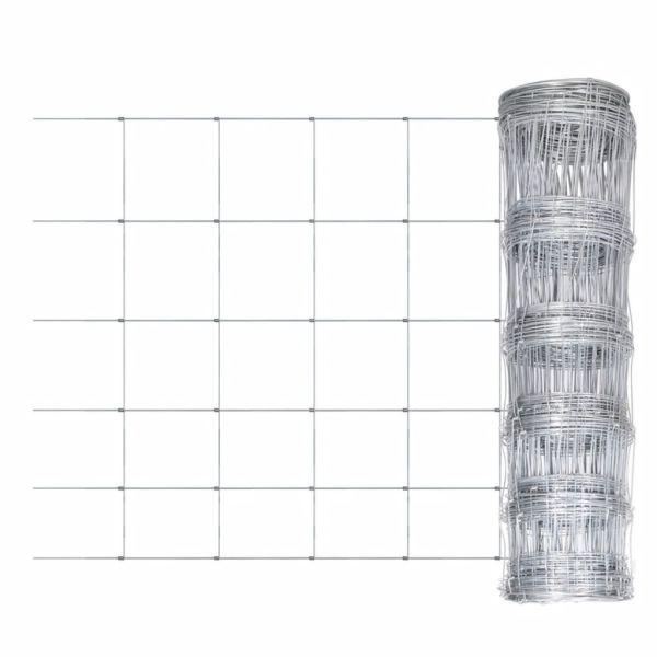 vidaXL Gard de grădină, 50 m, oțel galvanizat, 80 cm