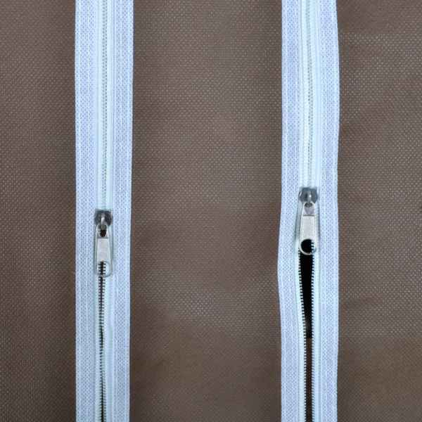 Dulap material textil compartimente și tije 45x150x176 cm maro