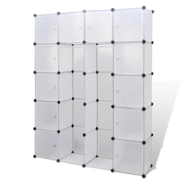 vidaXL Dulap modular cu 14 compartimente alb 37 x 146 x 180,5 cm