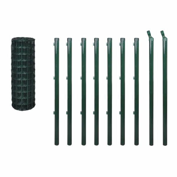 Euro gard, verde, 10 x 0,8 m, oțel