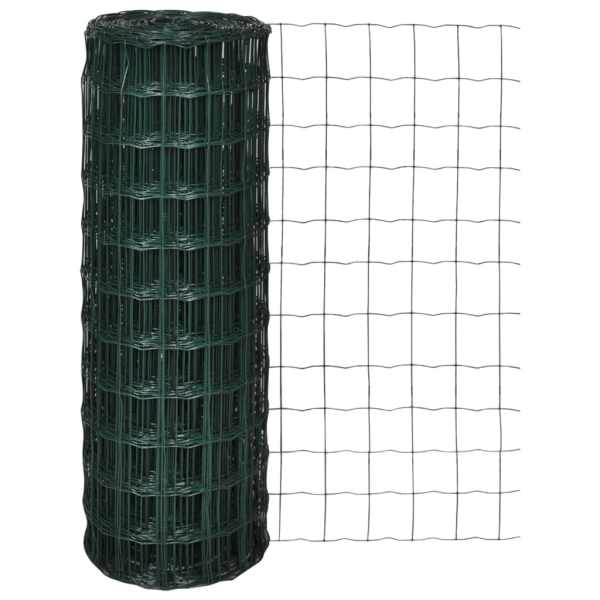 vidaXL Euro gard, verde, 25 x 1,0 m, oțel
