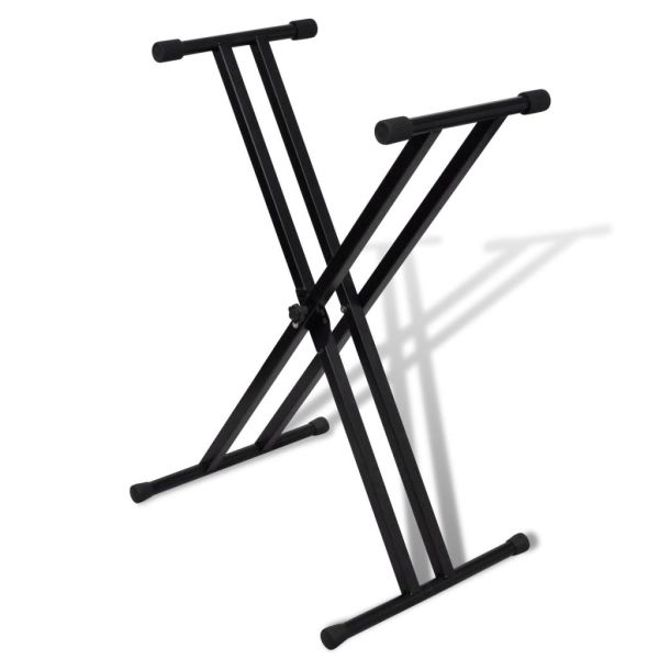 Stativ claviatură reglabil cadru cu brațe duble