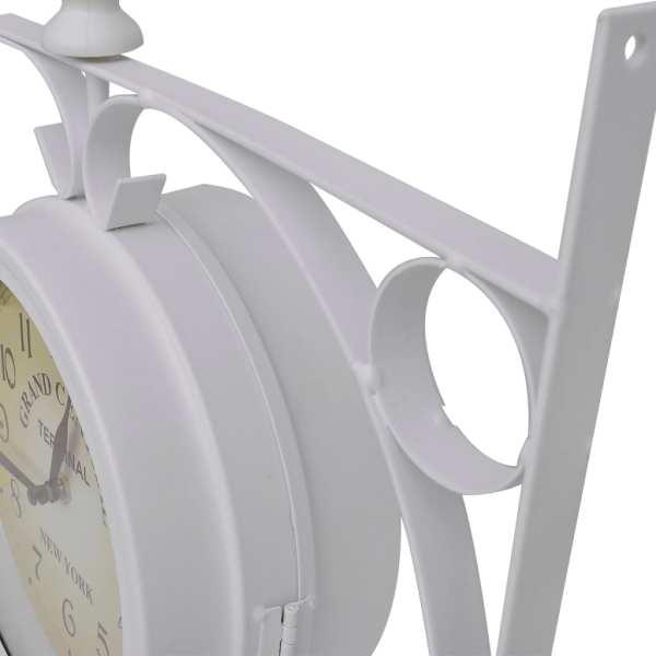 Ceas de gară pentru perete cu două fețe