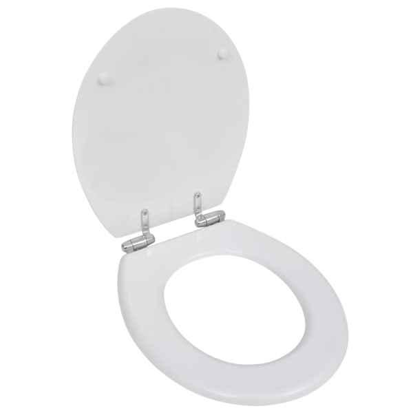 vidaXL Capac WC cu închidere silențioasă alb MDF design simplu