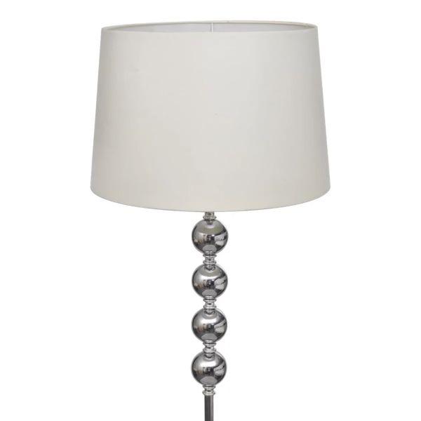 Veioză de iluminat înaltă cu 4 bile decorative, alb