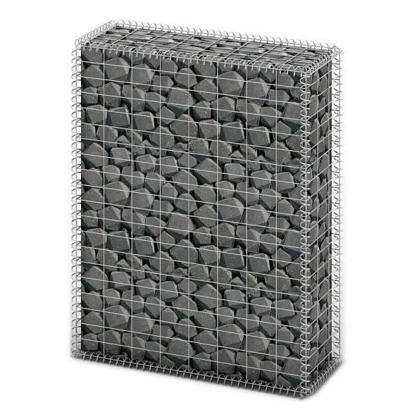 vidaXL Coș gabion cu capace, sârmă galvanizată, 100 x 80 x 30 cm