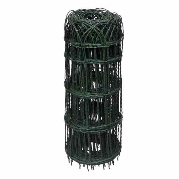 Gard delimitare grădină fier vopsit electrostatic 10 x 0,65 m