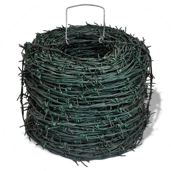 Sârmă ghimpată 100 m Verde