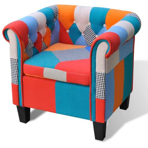 vidaXL Fotoliu cu model Patchwork, material textil
