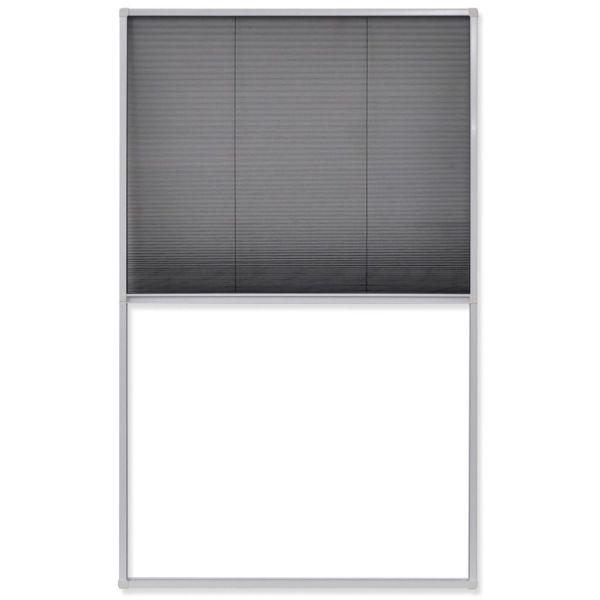Fereastră cu ecran de insecte plisat, 110 x 160 cm