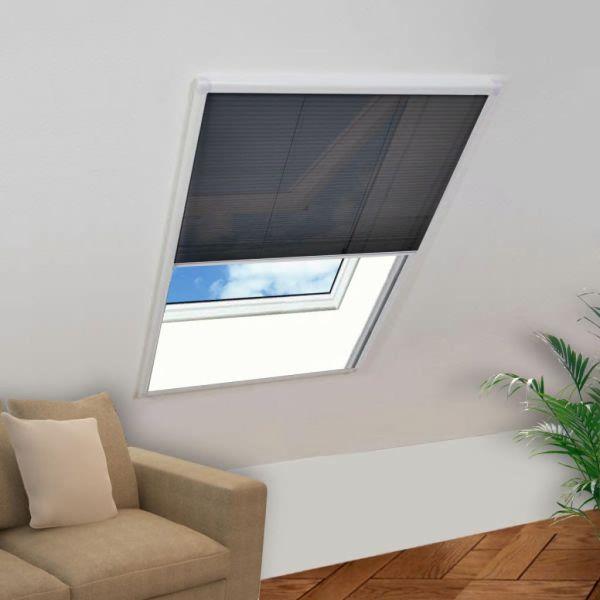 vidaXL Fereastră cu ecran de insecte plisat, 110 x 160 cm