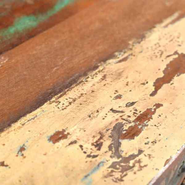 Masă consolă cu 3 sertare, lemn reciclat
