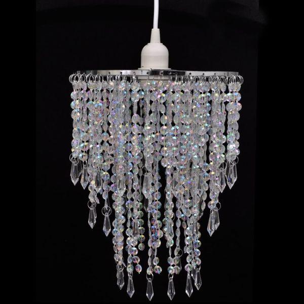 Lampă de tavan cu cristale 22,5 x 30,5 cm