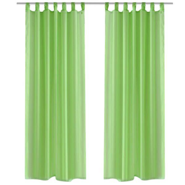Perdea transparentă Culoare Măr verde 140 x 245 cm 2 buc