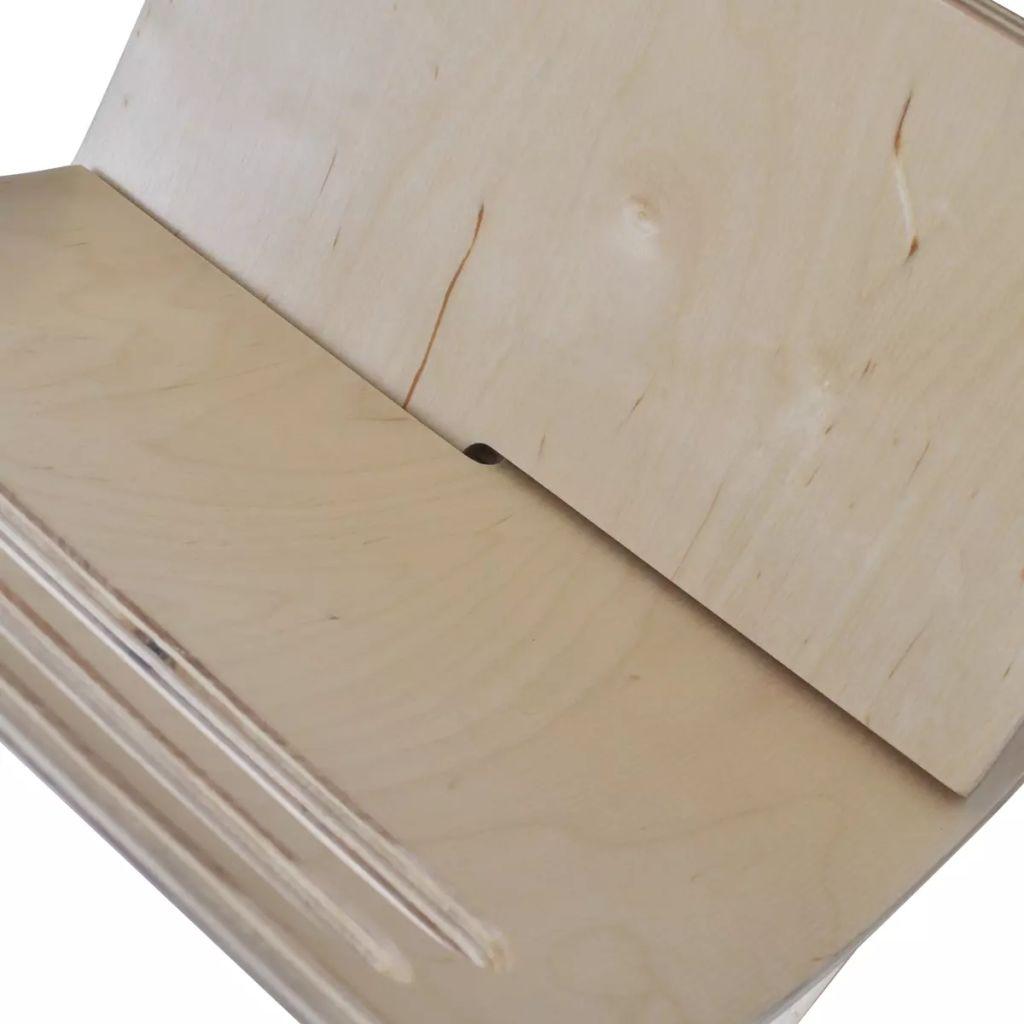 vidaXL Suport din lemn pentru reviste, vertical, natural