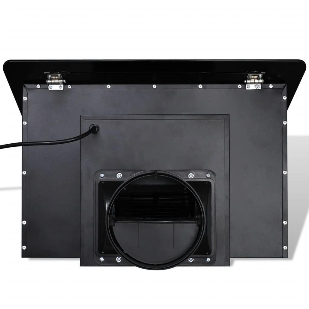 Hotă Sticlă Securizată cu Ecran 600 mm Negru
