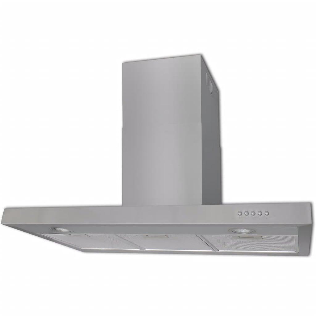 vidaXL Hotă de bucătărie, 900 mm, oțel inoxidabil, plat