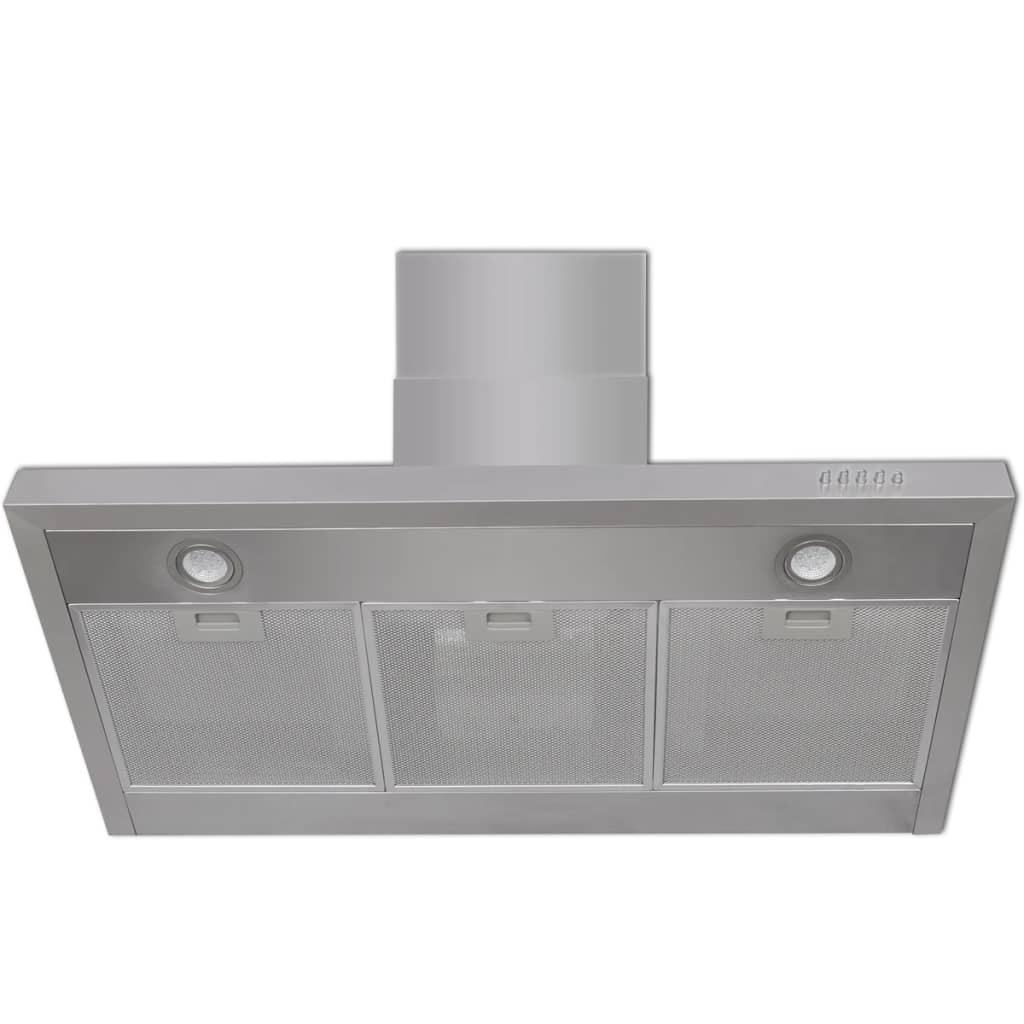 Hotă de bucătărie, 900 mm, oțel inoxidabil, plat