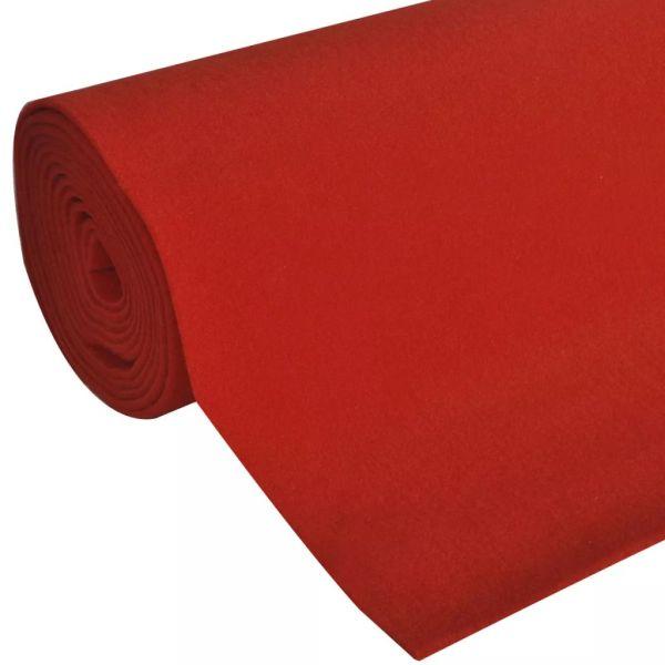 vidaXL Covor Roșu 1 x 10 m Foarte Greu 400g/m²