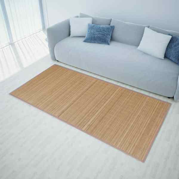 Covor pătrat din bambus 120 x 180 cm, maro