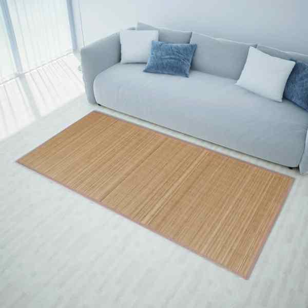 Carpetă dreptunghiulară din bambus 150 x 200 cm, maro