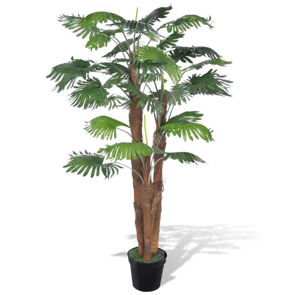 Palmier artificial cu aspect natural și ghiveci 180 cm