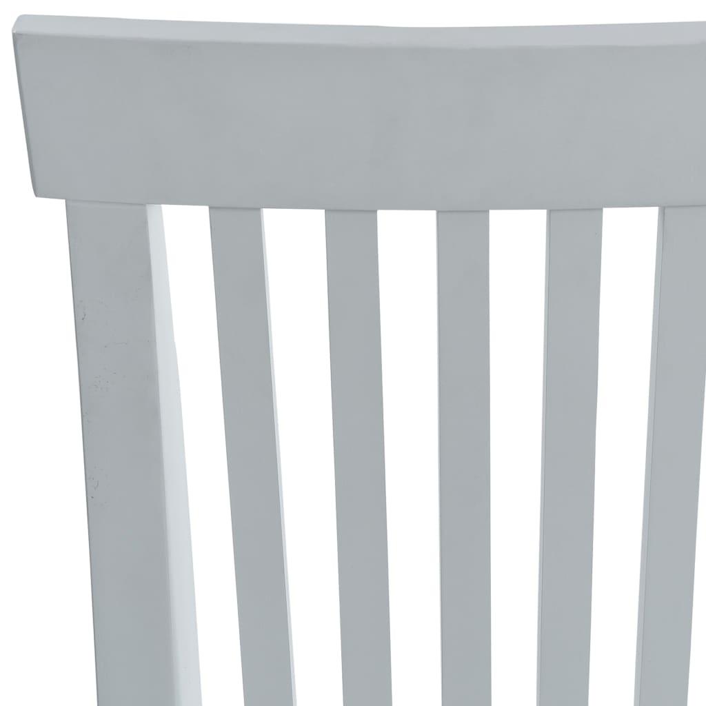 Scaune de bar, 2 buc., alb, material textil