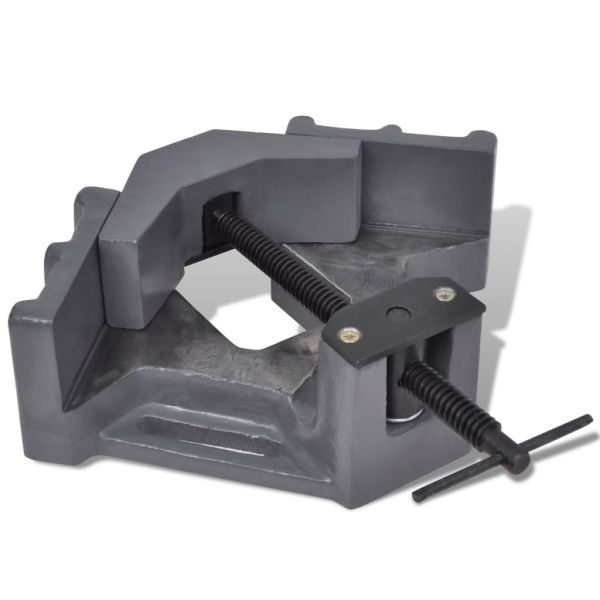 vidaXL Menghină de colț mașină de găurit, acționare manuală, 115 mm