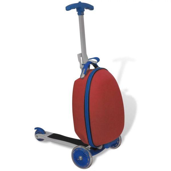 vidaXL Trotinetă cu troller pentru copii, roșu