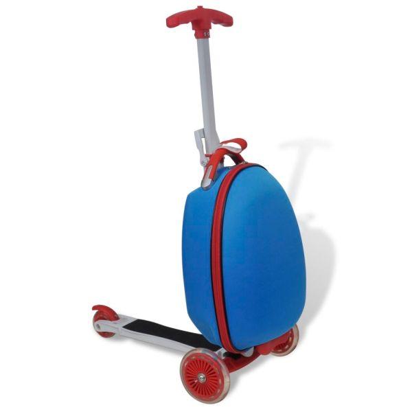 vidaXL Trotinetă cu troller pentru copii, albastru