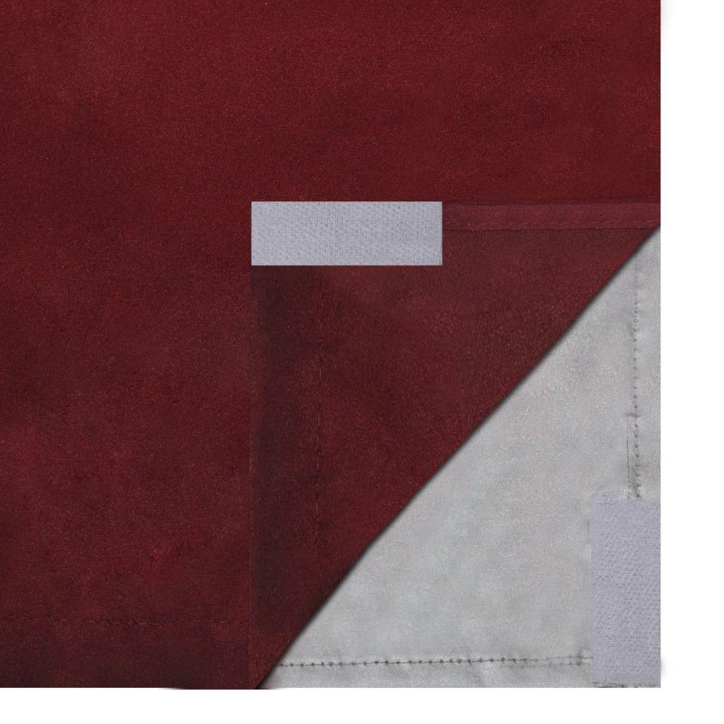 vidaXL Draperii opace, 2 buc., strat dublu, 140 x 245 cm, bordo