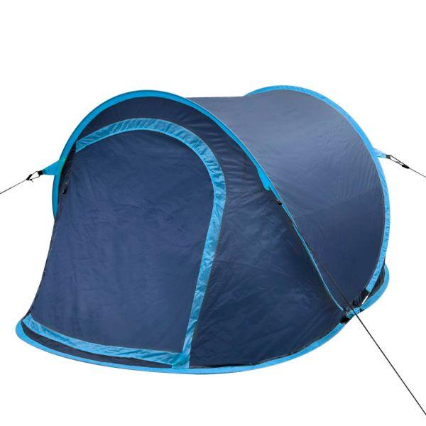 Cort camping pop-up pentru 2 persoane bleumarin/albastru deschis