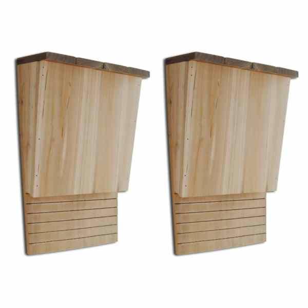 Căsuțe pentru lilieci 22 x 12 x 34 cm (2 buc)