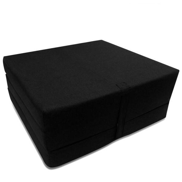 vidaXL Saltea din spumă, pliabilă, 190 x 70 x 9 cm negru