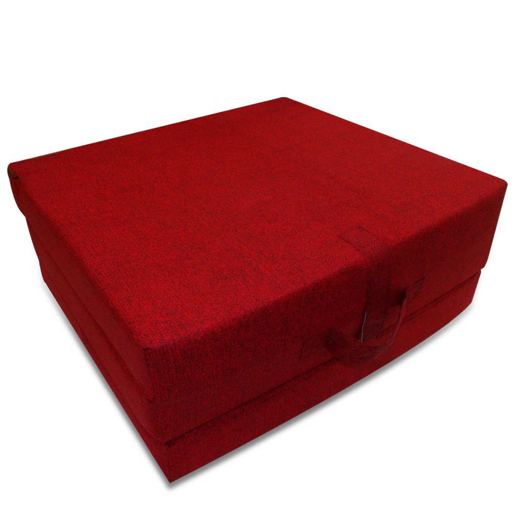 Saltea din spumă, pliabilă, 190 x 70 x 9 cm roșu