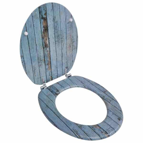 Capac WC MDF design lemn