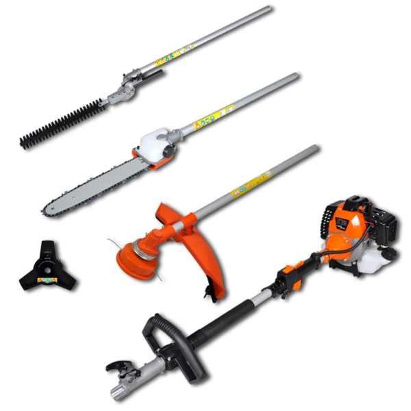 vidaXL Unealtă 4-în-1 trimmer iarbă & arbuști, drujbă, motocoasă