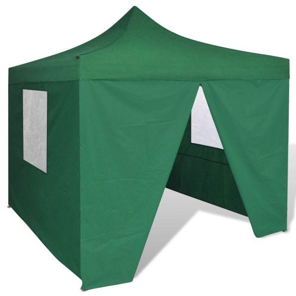 41468 vidaXL Green Foldable Tent 3 x 3 m with 4 Walls