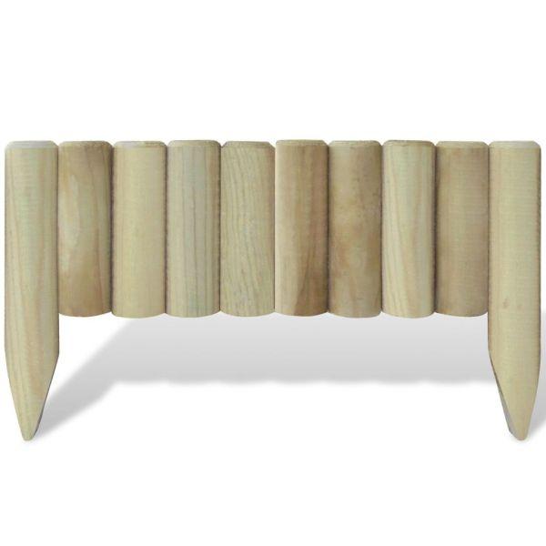 Panouri din bușteni pentru gazon, 10 buc., 60 cm, lemn