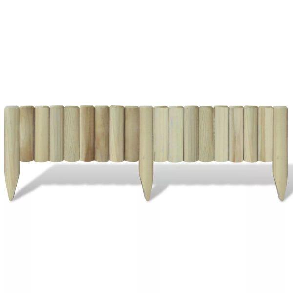 vidaXL Panouri din bușteni pentru gazon, 5 buc., 120 cm, lemn