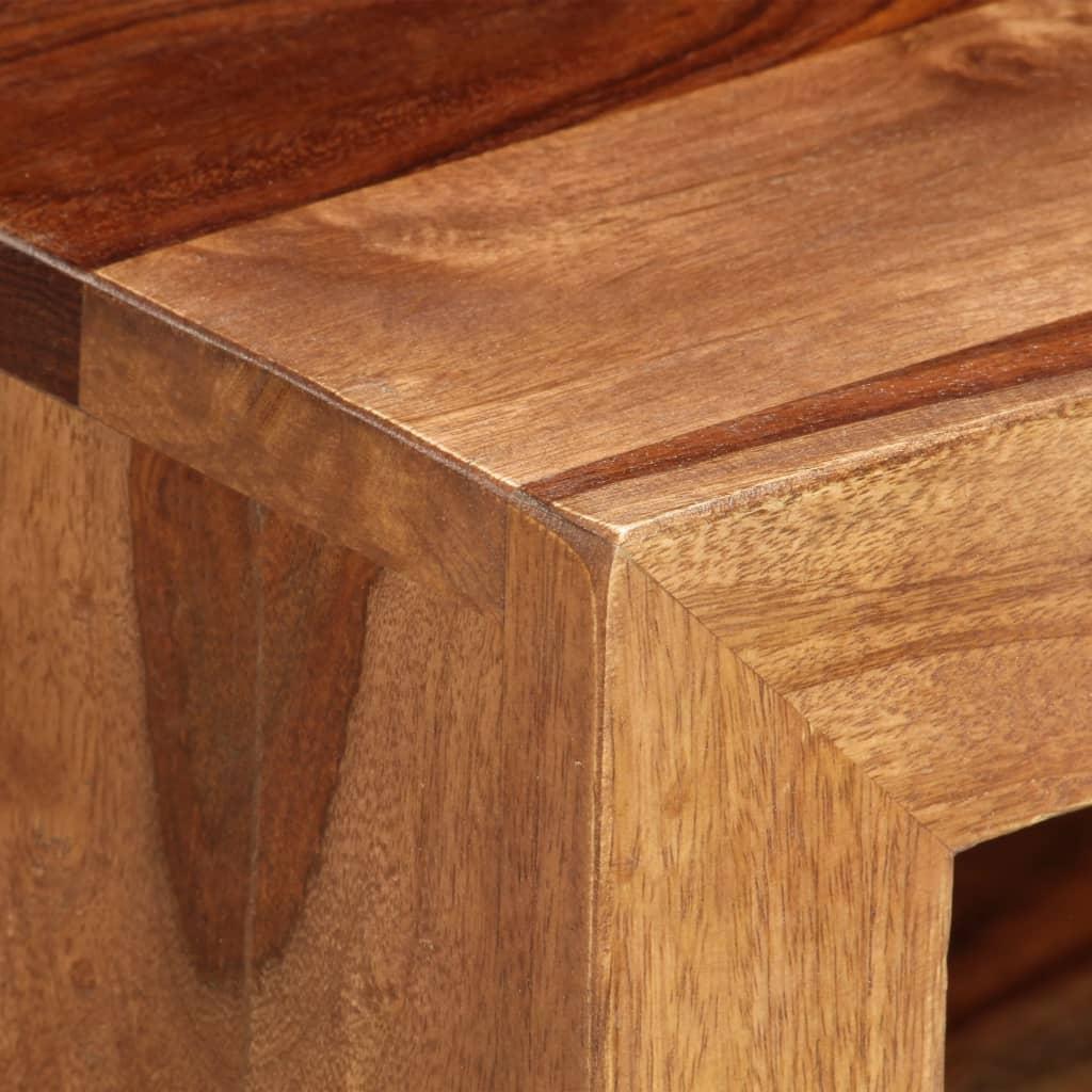 Masă laterală comodă TV, lemn masiv de sheesham