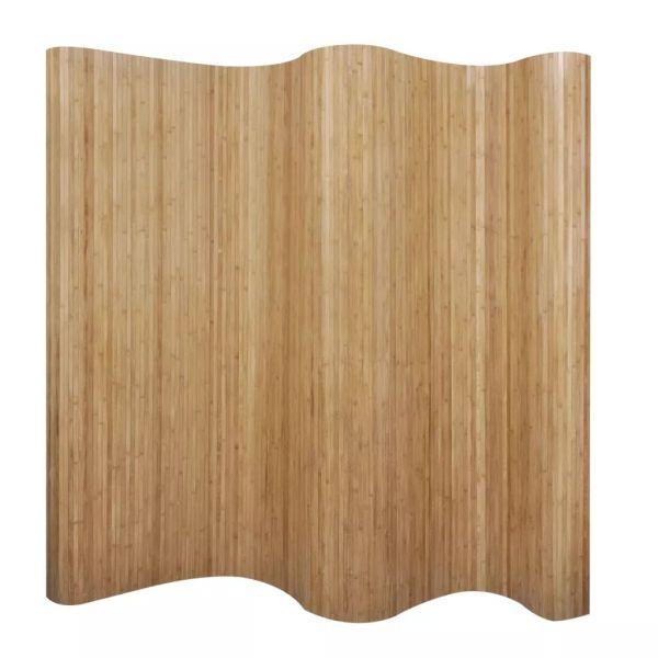 vidaXL Paravan de cameră din bambus, culoare naturală, 250 x 165 cm
