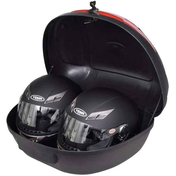 Cutie portbagaj moto 72 l pentru 2 căști