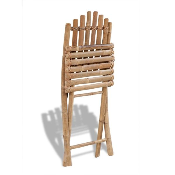 Scaun pliabil de bambus, 4 buc