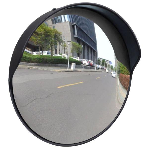 Oglindă de trafic convexă, negru, 30 cm, plastic PC, de exterior