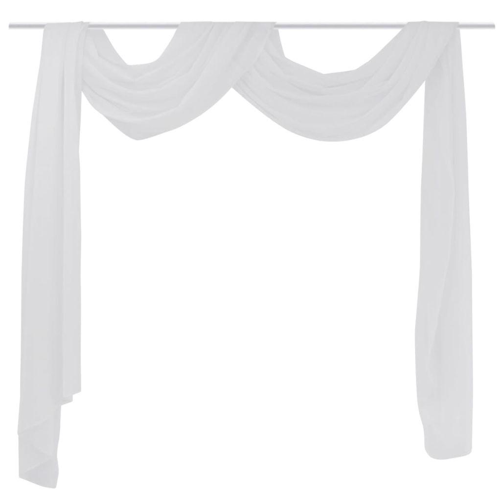 Draperie transparentă din voal 140 x 600 cm, alb