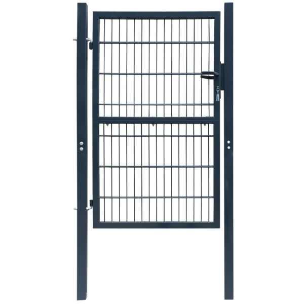 Poartă 2D pentru gard (simplă) 106 x 210 cm, gri antracit