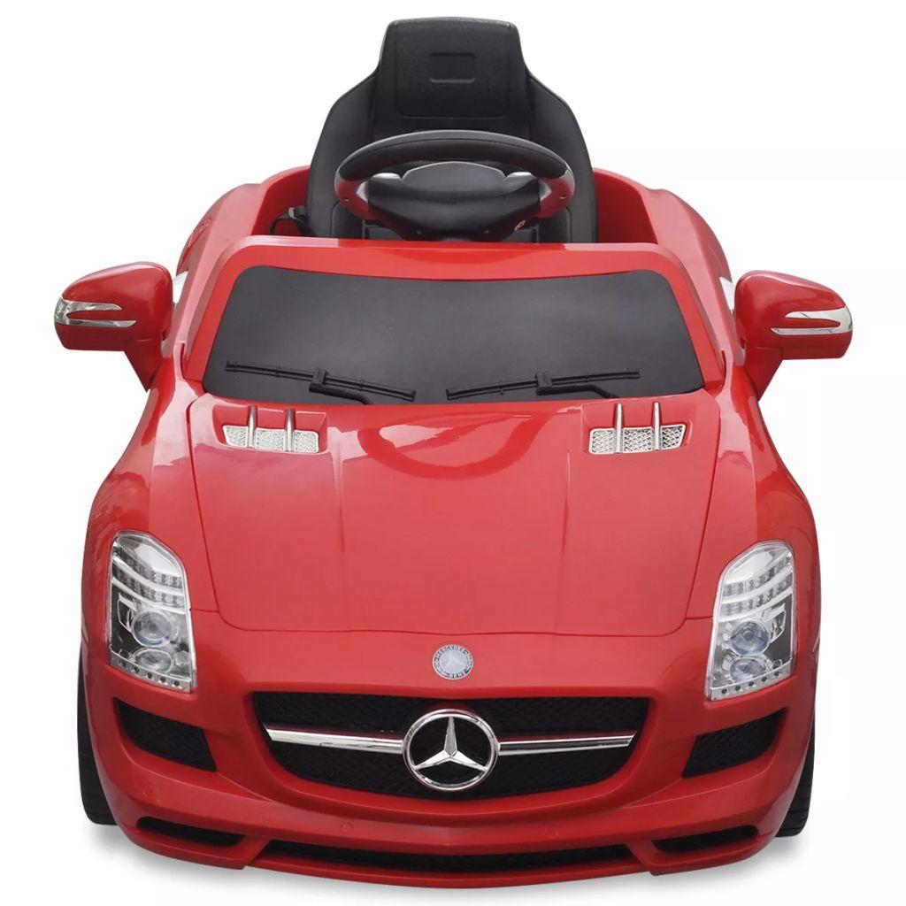 Mașinuță electrică Mercedes Benz SLS AMG 6 V cu telecomandă, roșu