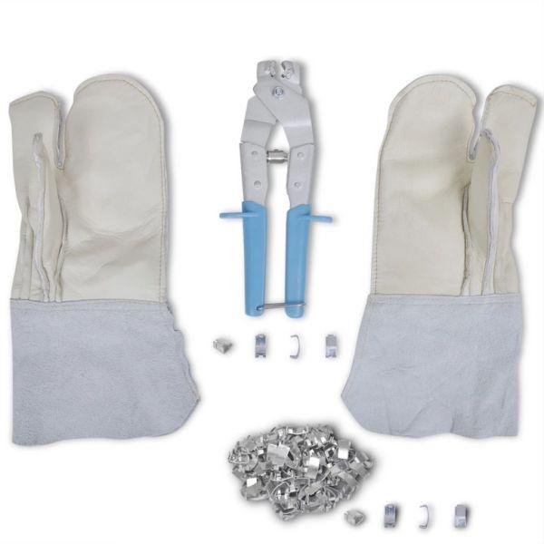 Set accesorii NATO pentru sârmă ghimpată cu clește, mănuși & 200 cleme